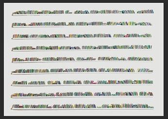 LoveJordan, 'BRIGHT IDEAS', 104 x 144 x 8cm, Folded paper on small shelves In black box frame