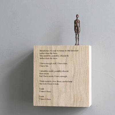 Carol Peace, 'Its here',  Bronze on oak wall block Edition of 25, 15 x 14 x 5cm