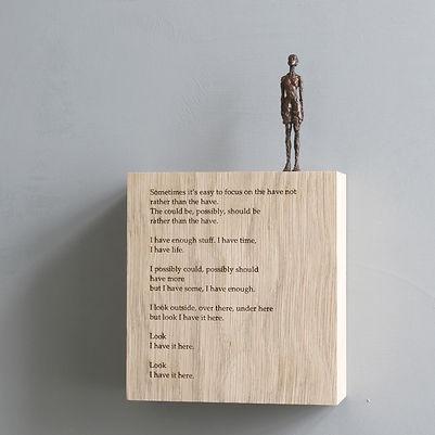 Carol Peace, 'Its here', Bronze on oak wall block Edition of 25, 15 x 14 x 5cm
