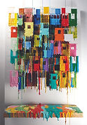 Russell West_Little Boxes XXVIII_50cm x 80cm_Oil on wire on board 2_Woolff Gallery