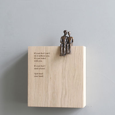 Carol Peace, 'Your hand',  Bronze on oak wall block Edition of 25, 15 x 14 x 5cm