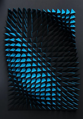 Anna Kruhelska, 'Untitled 81',  Folded paper inside black box frame with black mount, 100 x 70 x10cm