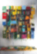 T Russell West_Little Boxes XXXV_Oil on