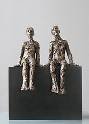 Carol Peace, Hefted, Bronze resin on wooden block, 28cms high x 22w x 12d, ed of 25