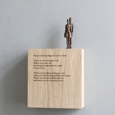 Carol Peace, 'Side by side',  Bronze on oak wall block Edition of 25, 15 x 14 x 5cm