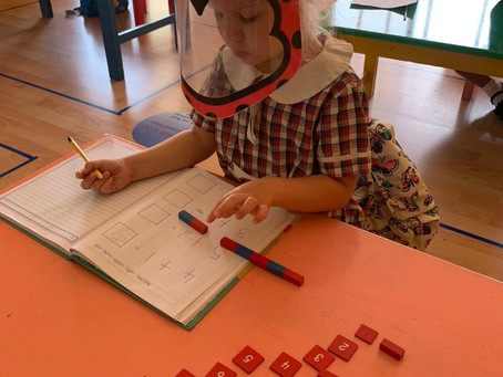 Numeracy: Simple addition with Number Rods
