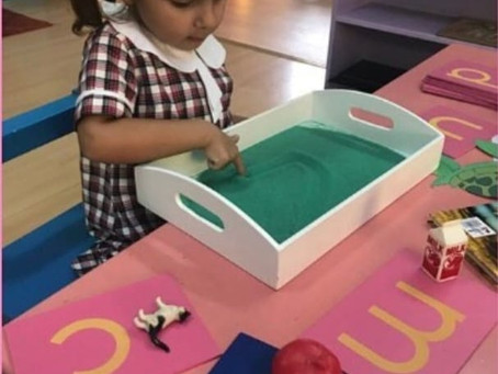 Importance of developing Letter-Phonic Sounds Knowledge: Montessori Sandpaper letters