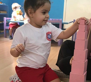 Sensorial Activity: The Pink Tower