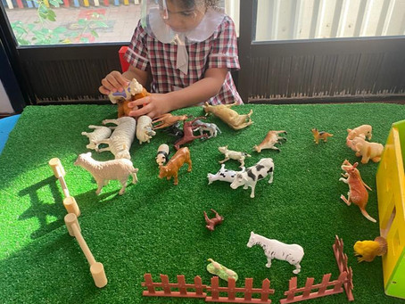 Taking a Trip to the local farm to see the Farm Animals, their families and their habitats