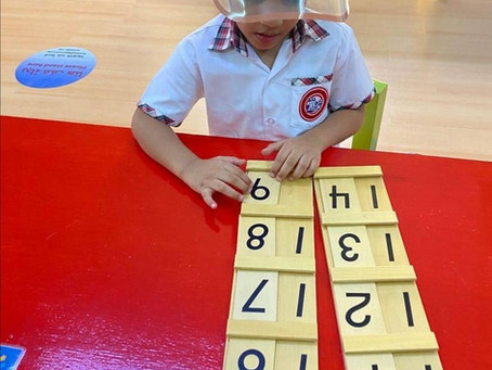 Numeracy: Seguin Board A – Teen Numbers 11 to 19
