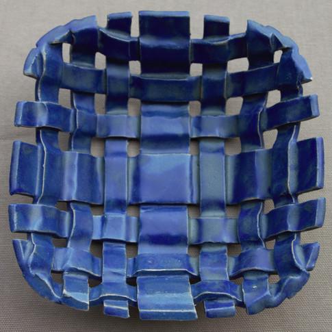 Strip weaving small basket