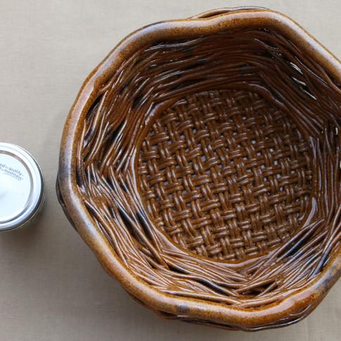 Large Adventurine woven basket