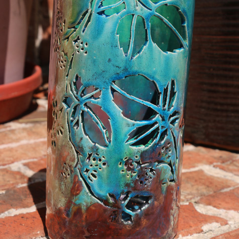 Raku Pillar Vase