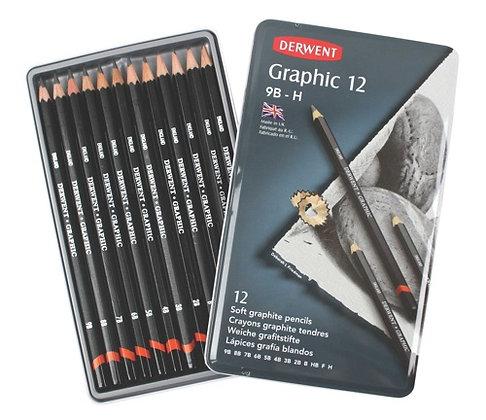 Derwent Graphic Pencils - 12