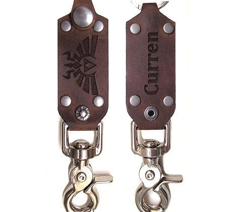 Large Leather Keychain