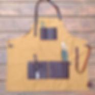 canvas apron, artist apron, quality artist apron, leather apron, leathe artist apron, waist apron, wine server apron, tool apron, potters apron