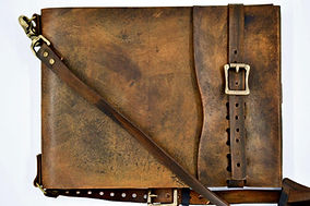 Extra large, refillable leather sketchbook, shoulder strap, old world, zenfishleather, sketchbook journal