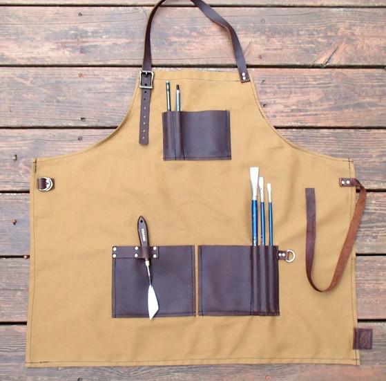 Leather aprons, leather sketchbooks, custom sketchbooks, refillable leather sketchbooks, design your own sketchbook