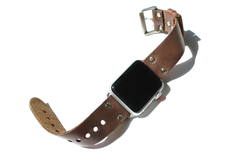 zenfish leather, zenfishleather, leather Apple Watchband, rustic apple watchband, stylish watchband, soft leather apple watchband, apple watchband, custom apple watchband