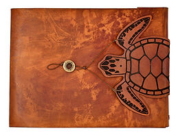 large refillable leather sketchbook, leather journals, leather sketchbook, leather sketchbook cover, sketchbook cover, guest book, seaturtle journal, zenfishleather, zenfish leather