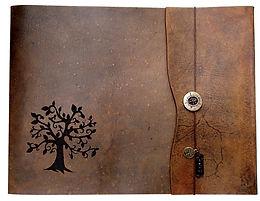 Tree of Life, large leather sketchbook, large refillable sketchbook, custom sketchbook, custom journal, refillable leather sketchbook, personalized