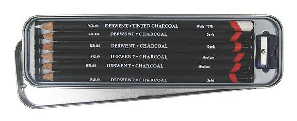 Derwent Charcoal Pencils - 6