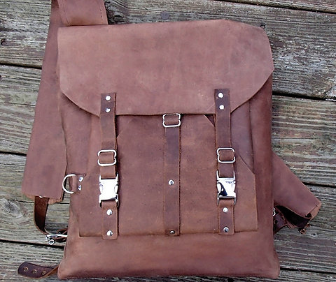 Large Leather Backpack