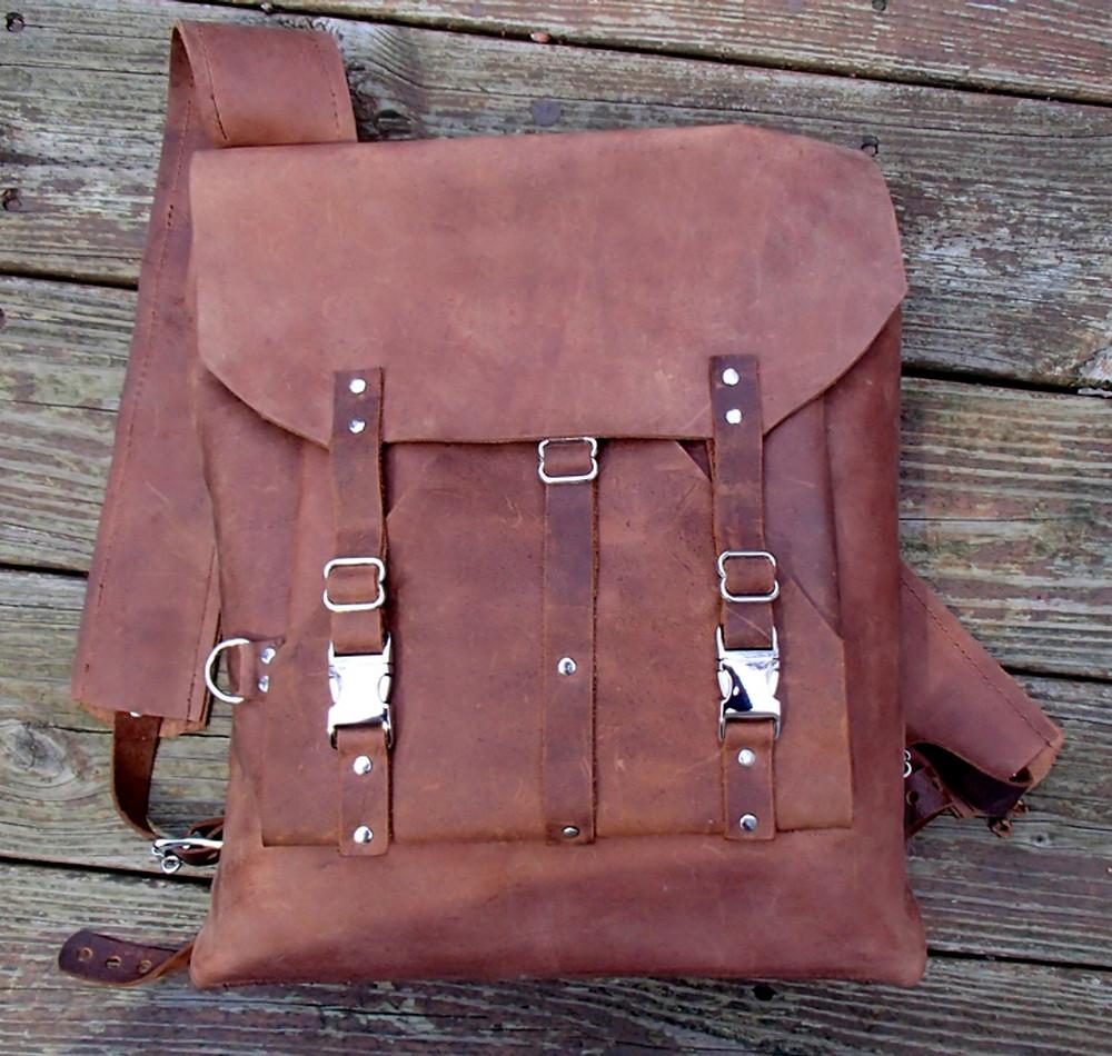 Zenfishleather backpacks, leather backpack, leather book bag, leather shoulder bag
