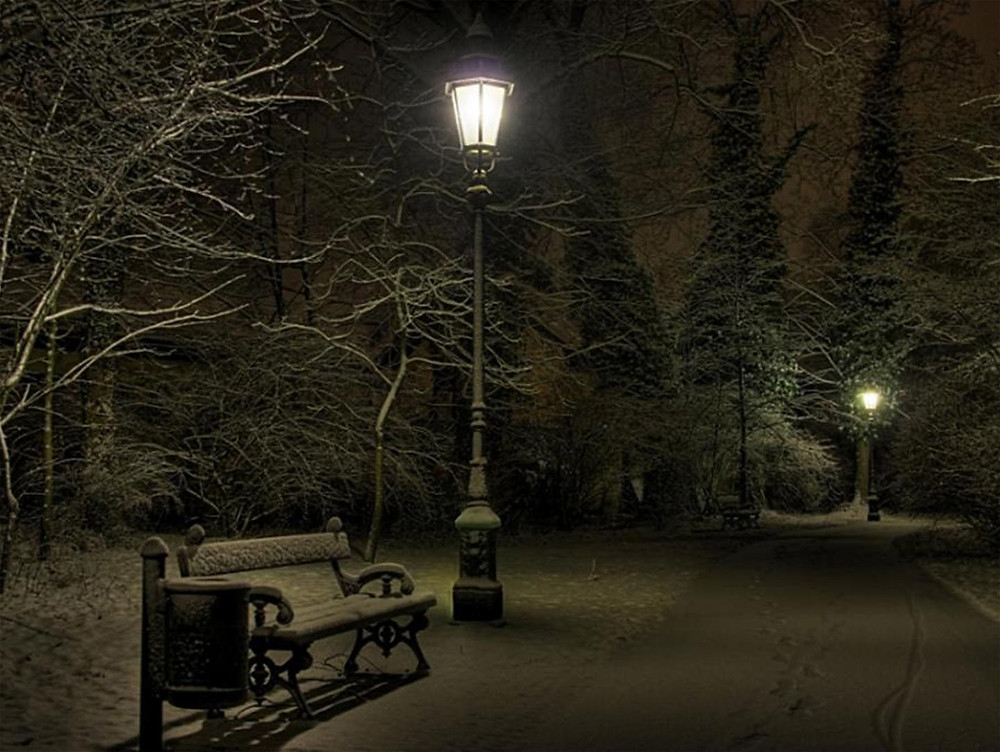 Cold-Night-Park-Wallpaper