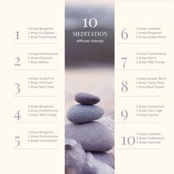 10 meditation diffuser blends (IG post).