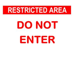 Do-Not-Enter-Sign