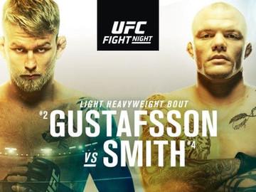 1 ИЮНЯ 2019 UFC FIGHT - GUSTAFSSON VS. SMITH