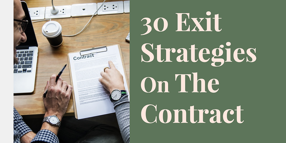 30 Exit Strategies On The Contract
