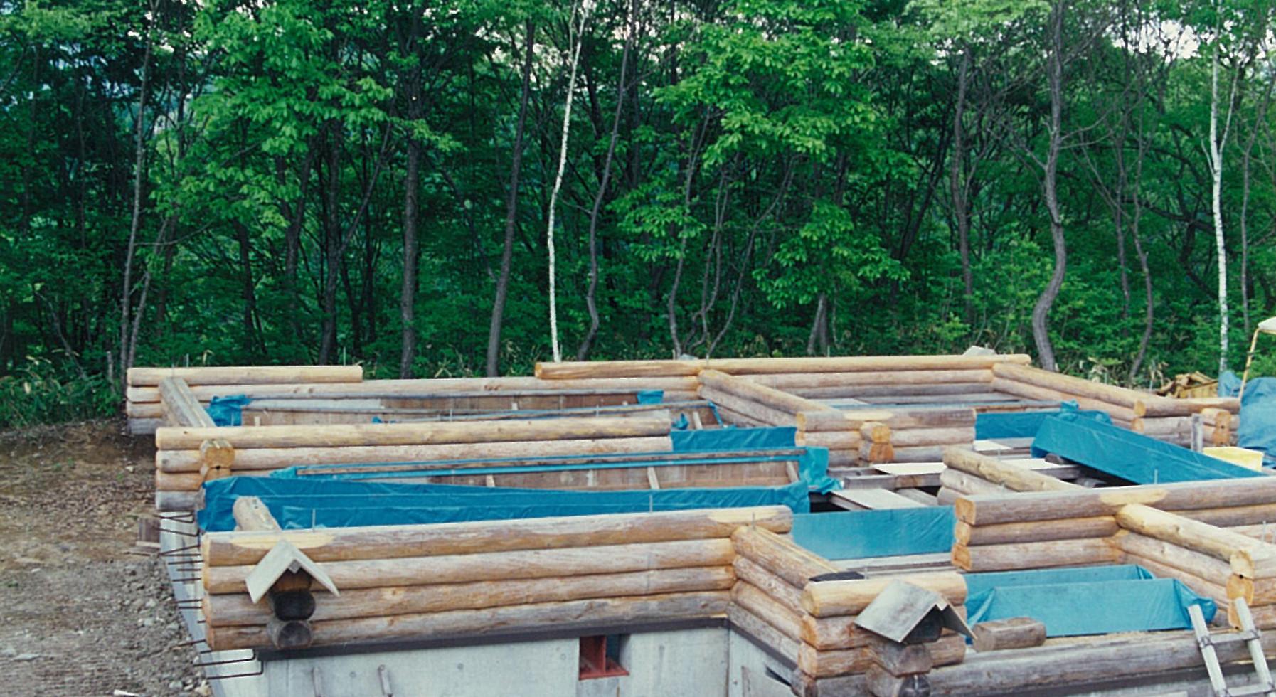 昭和62年(32年前) ログハウス建築着工