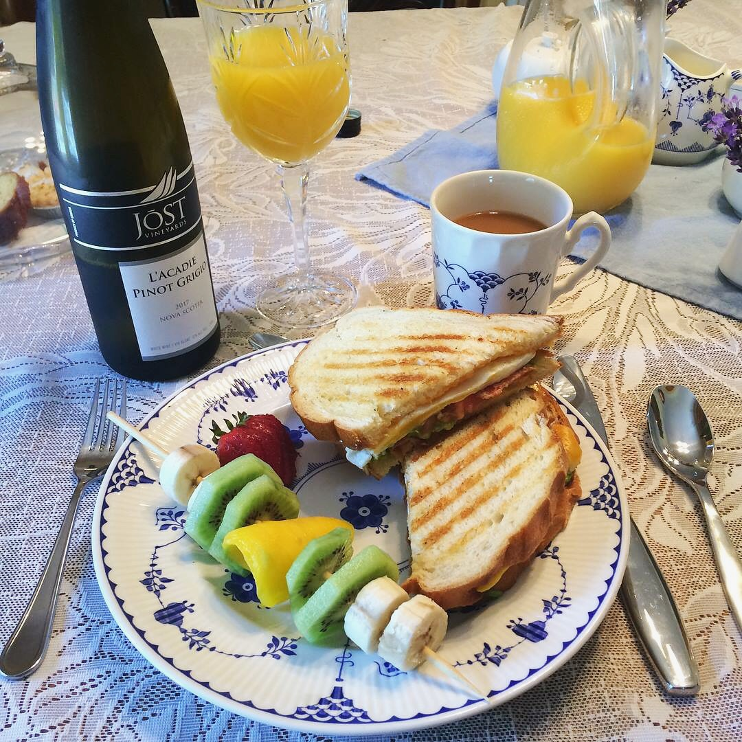 Delicious homemade breakfast