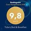 Booking.co Guest Review Award 2018 Tobas Bed and Breakfast in Nova Scotia