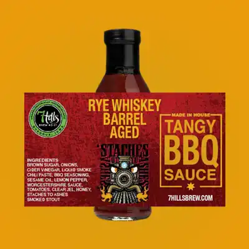 Rye Whiskey Barrel Aged Stashes to Ashes Siracha BBQ Sauce