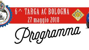 Il PROGRAMMA 2018 (provvisorio) di TARGA AC BOLOGNA