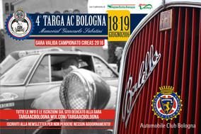 Fervono i preparativi per la 4^ Targa AC Bologna - Memorial Giancarlo Sabatini. A breve i dettagli p