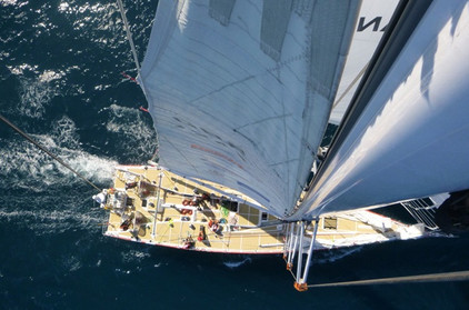 View from the top of the mast