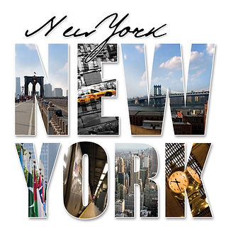 A New York City themed montage or collag