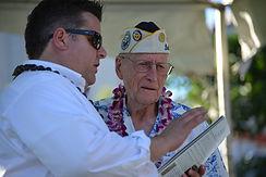 Parade Chairman, Joel Biggs with Pearl Harbor Veteran