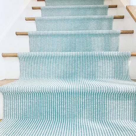 LINA STRIE Turquoise White