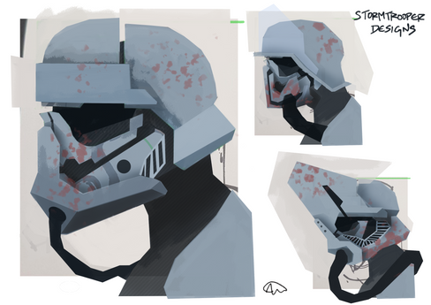 storm trooper concept redesign sketches