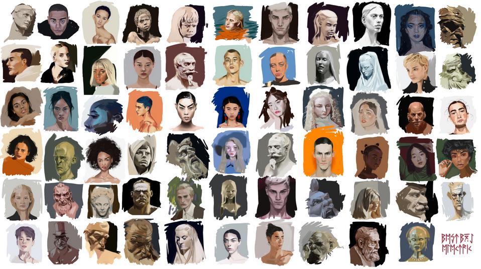 65 heads