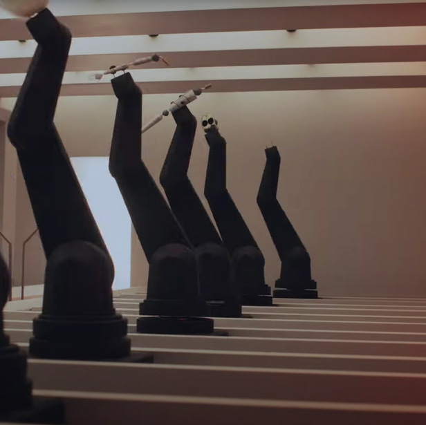 Robot Arm in music Video