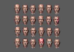 Warden Various Head Iterations