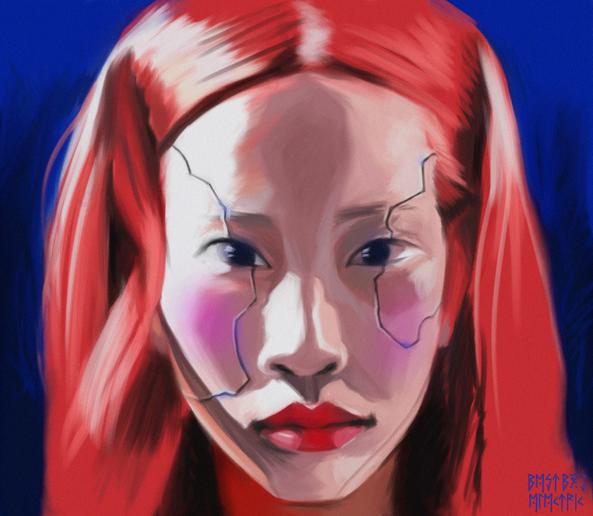 cyberpunk asian girl
