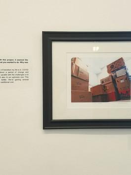Muzineum Exhibit on the Walls of Lexington Art League