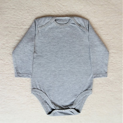 Body manga larga gris
